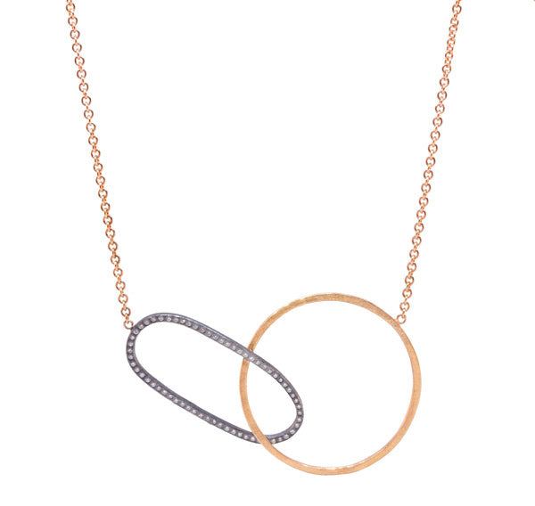 18k Rose Gold Circle Necklace