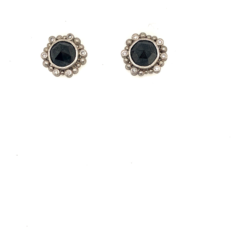 Palladium Black Diamond Earrings