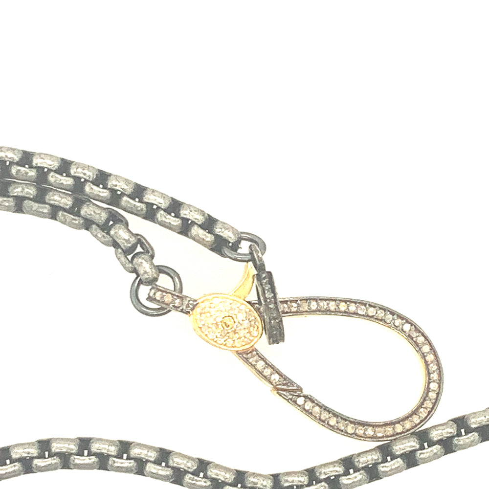 Sterling Silver and Gold Vermeil Chain Necklace