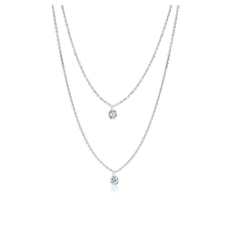 Two Floating Diamond Necklace