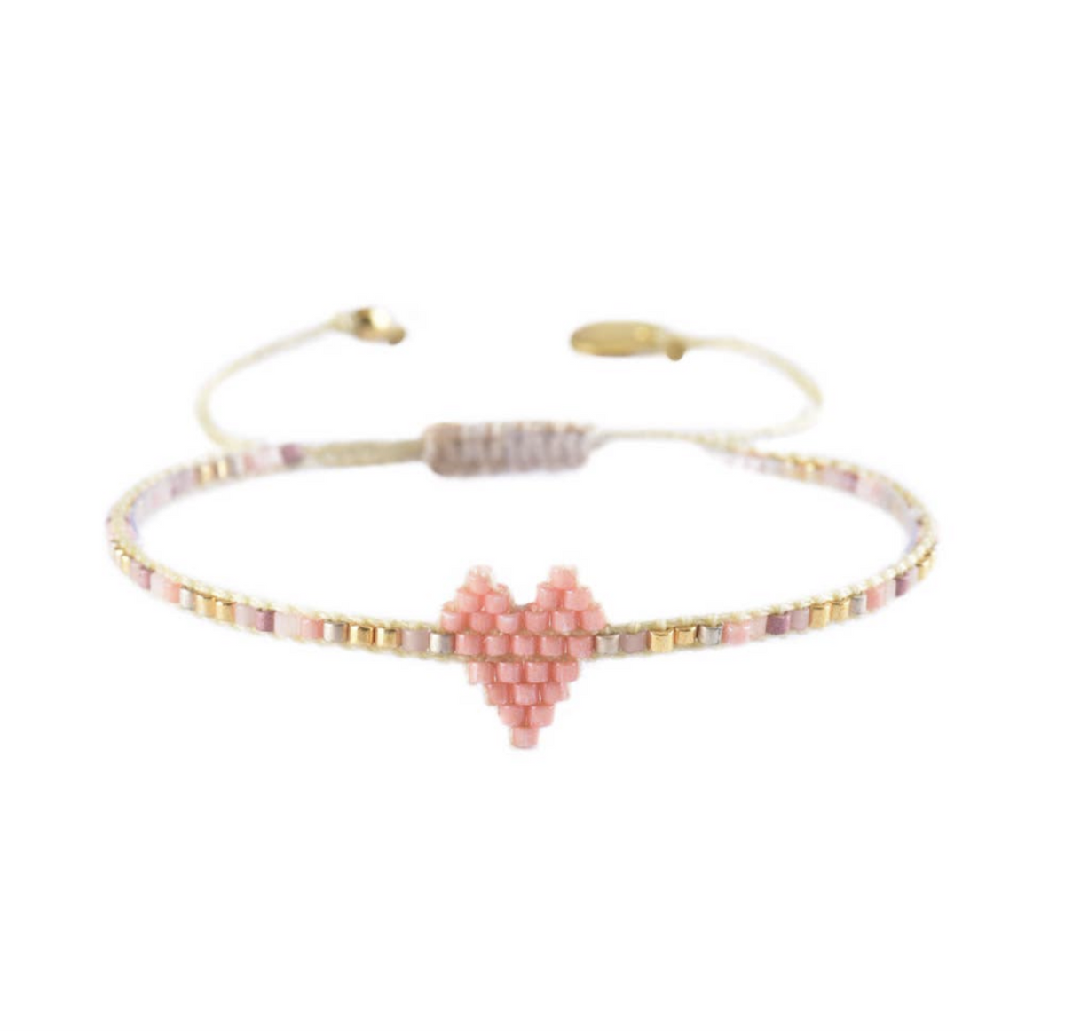 Heartsy Bracelet- light pink