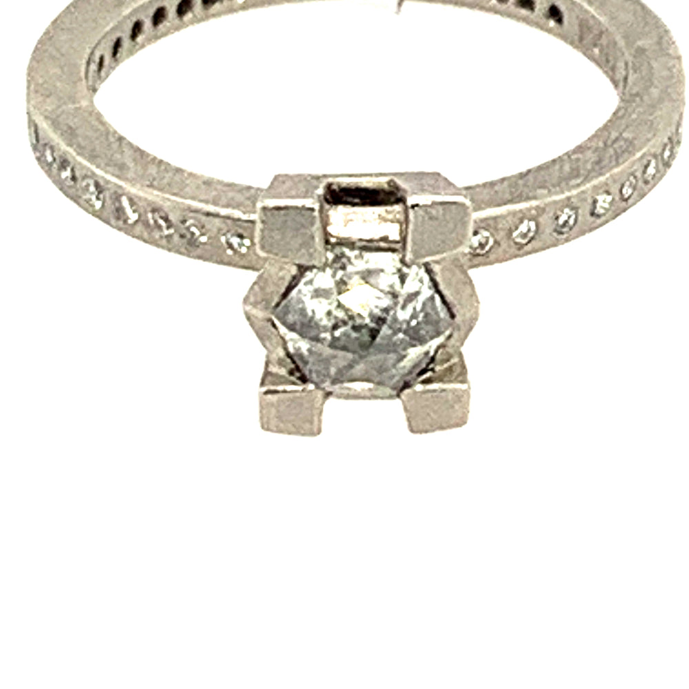Palladium Fancy Diamond Ring