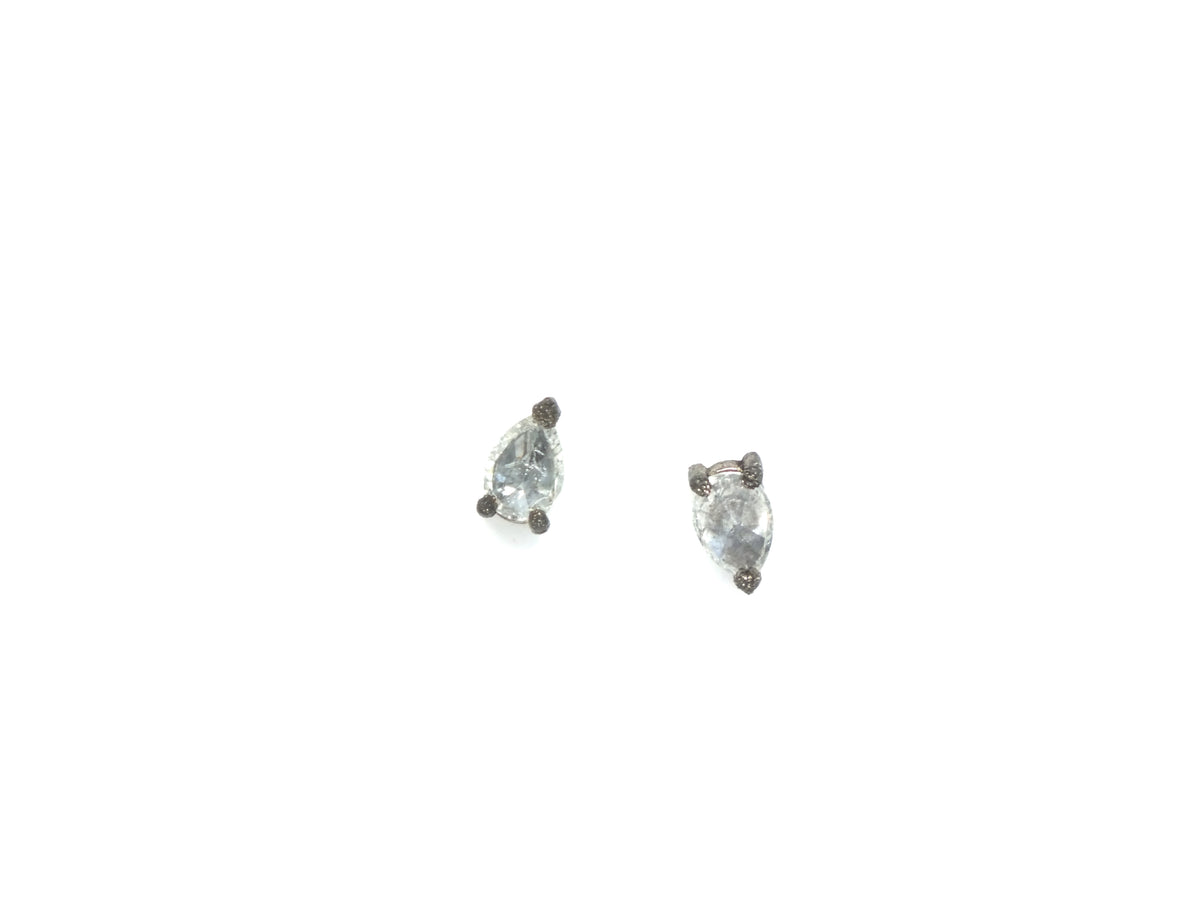 Pear Cut Inverted Diamond Studs