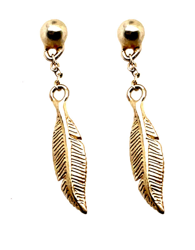Mini Feather Dangle Earrings