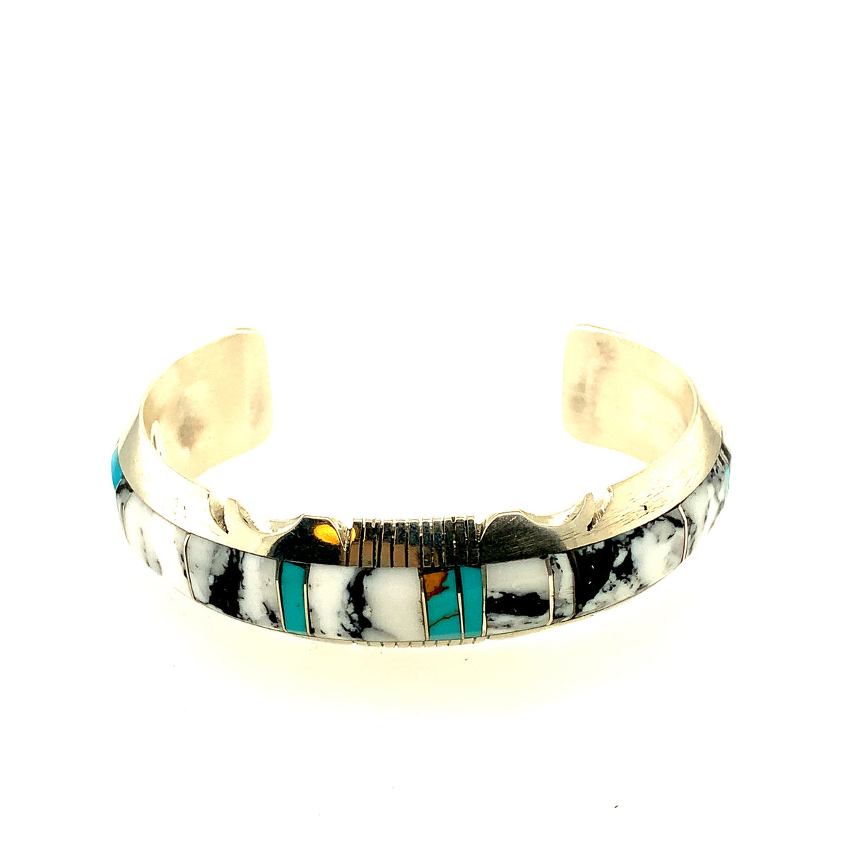 Mother of Pearl and Turquoise Cuff