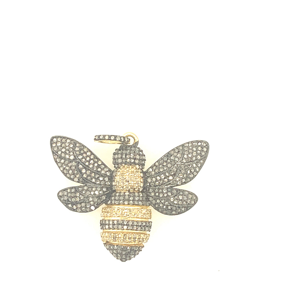 Sterling Silver and Gold Bee Pendant