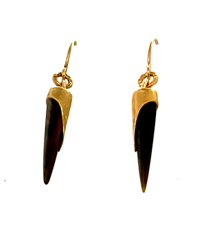 18k GP Lunar Hand Shard Dangle Earrings