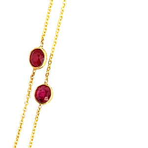 Round Ruby Necklace