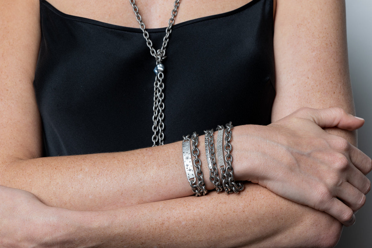 5 Row Diamond Wrap Bracelet