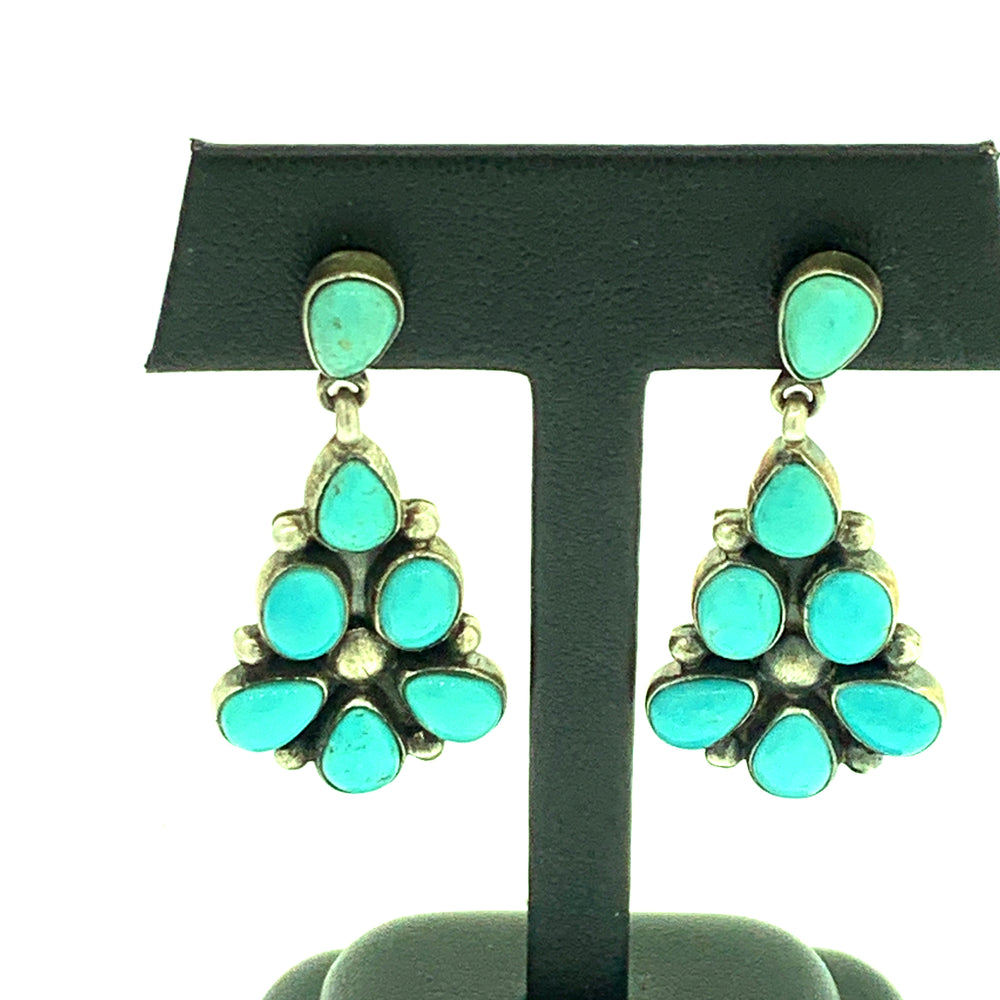 Fox Turquoise 7 Cluster Earring