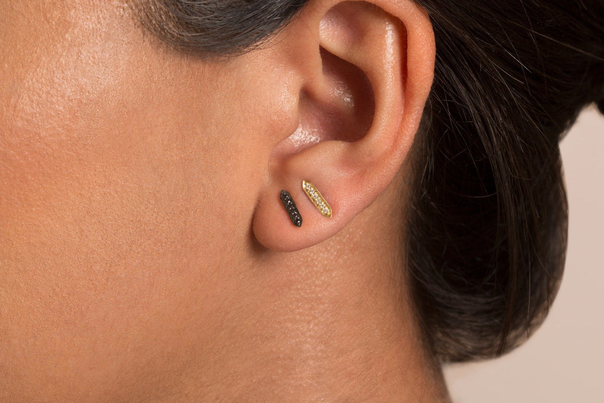 Trista Studs- Black Diamond