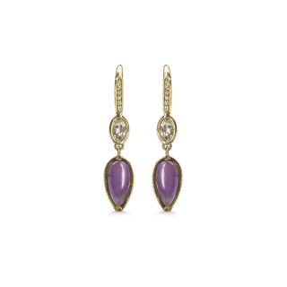 Pacey amethyst and diamond earrings