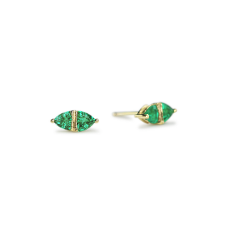 Sage emerald stud earrings