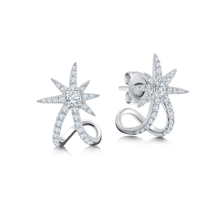 Diamond Starburst Ear Cuffs