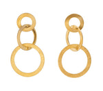GOLD PLATED CIRCLE DANGLES