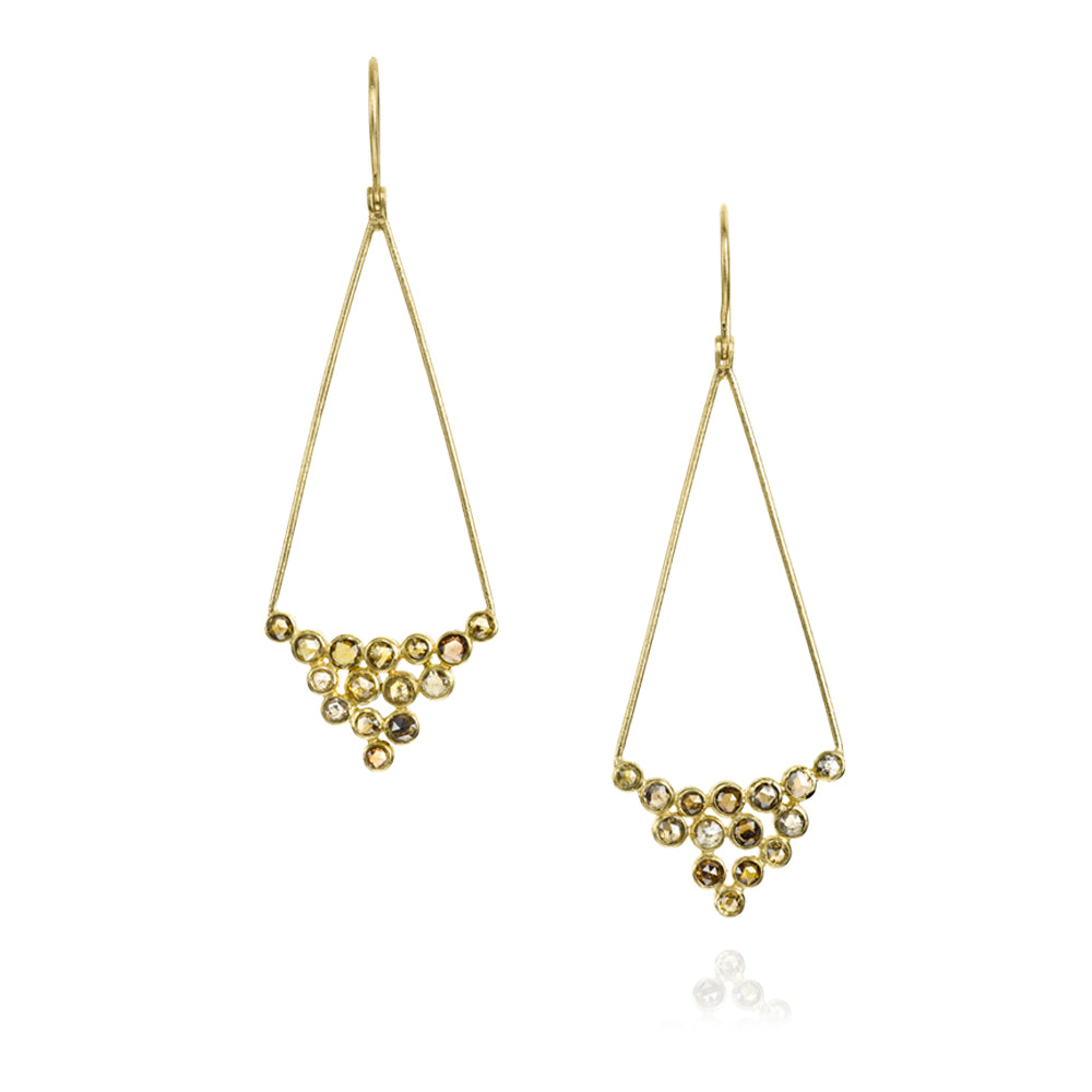 Diamond and Yellow Gold Earrings