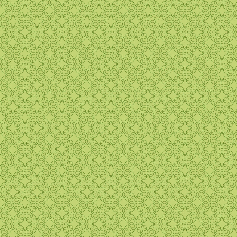Henry Glass Fabric Pattern Modern Melody Basic Color Spring Green Filagree Geo 1063-66