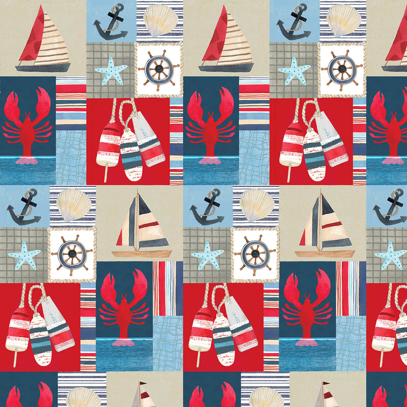 Blank Quilting Harbor Day Patch Blue 1153-75