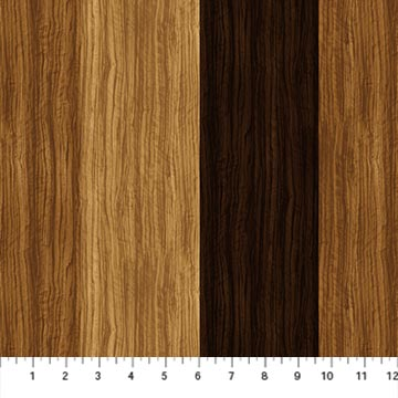 Northcott The View From Here Wood Grain Stripe Chestnut