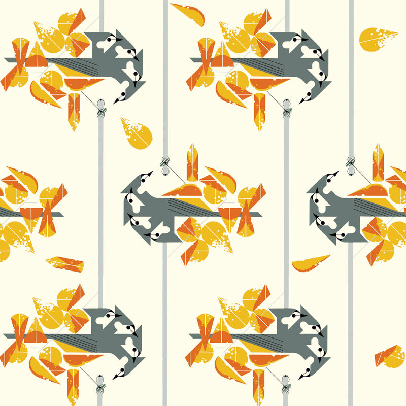 Birch Fabric Lakehouse 2 Print Tufted Titmouse CH148-Tufted-Titmouse