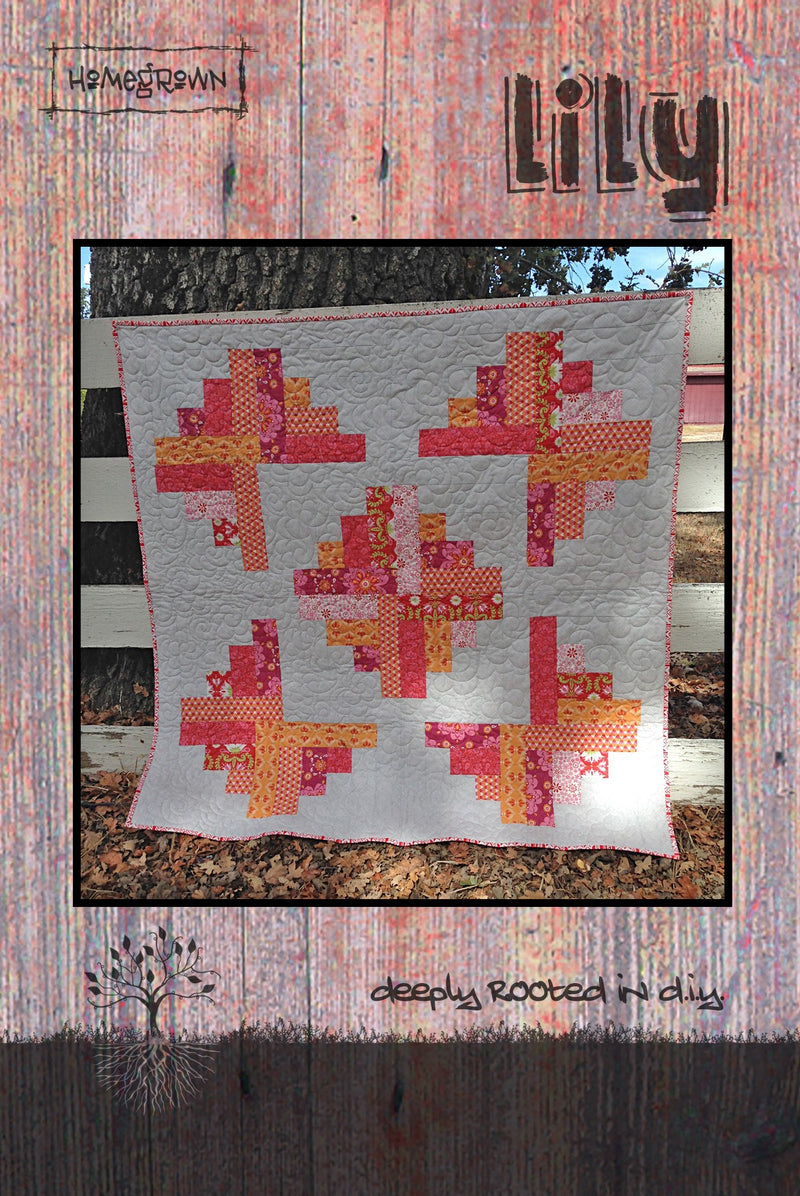 Lily Quilt Pattern Finished Quilt Size 50in x 50in