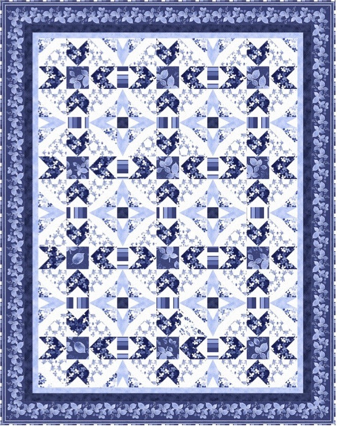 Quilting Treasures Lapis Leaves Quilt Kit Featuring Lapis Leaves Fabric 3956ALapis Leaves Quilt Kit 3956A