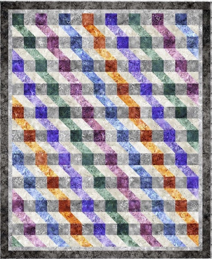 Quilting Treasures Ombre' Ripple Quilt Kit
