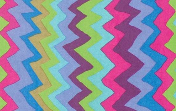 Sound Waves Color Blue PWBM062.Bluex  Brandon Mably For Kaffe Fassett Collective