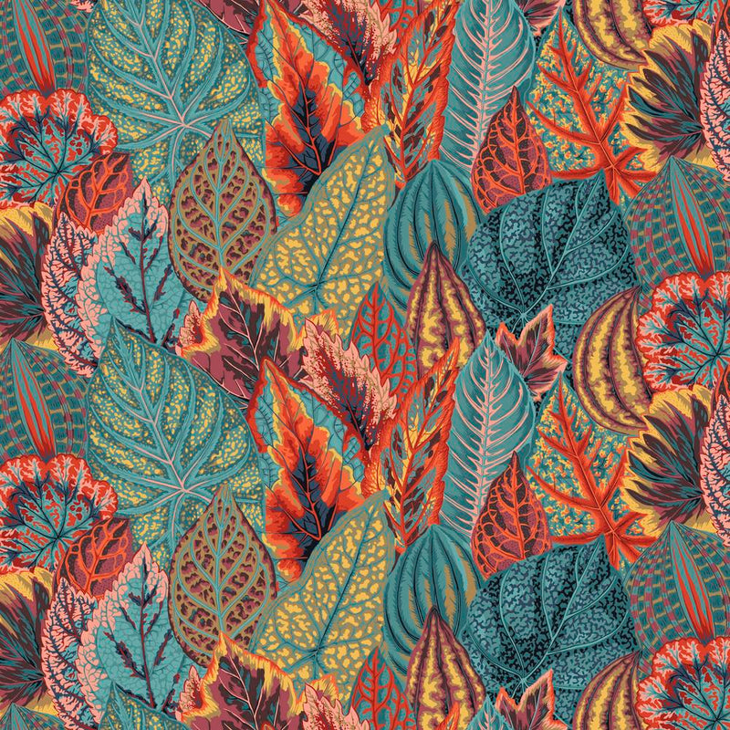 Coleus Color Teal PWPJ030.Teal  Philip Jacobs For Kaffe Fassett Collective