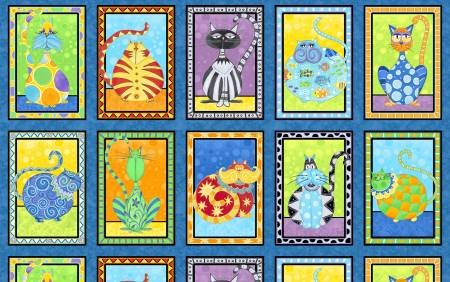 Catmosphere Block Panel 24in x 44in. Sold By the Panel