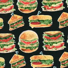 Robert Kaufman Let's Do Lunch Black Fabric