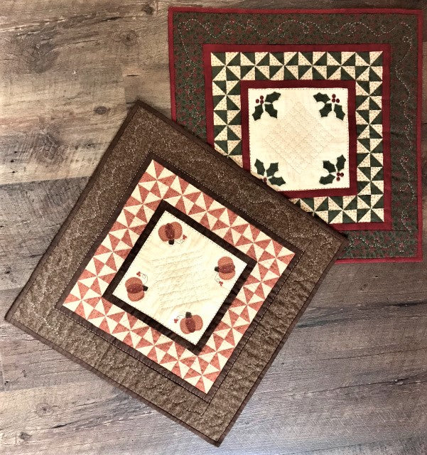 Red Button Quilt Co Table Comforts Christmas Holly Kit