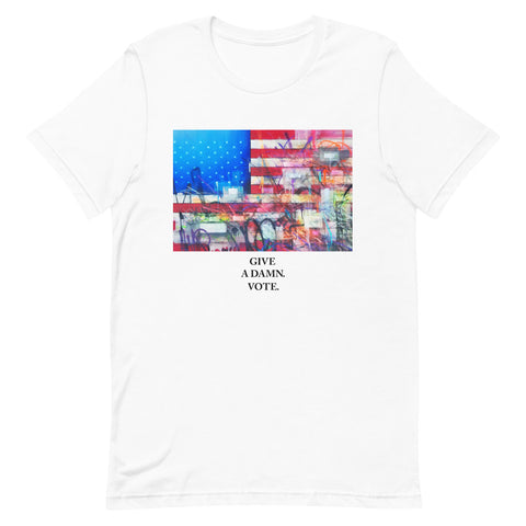 Give A Damn Vote X Saber Tee, White