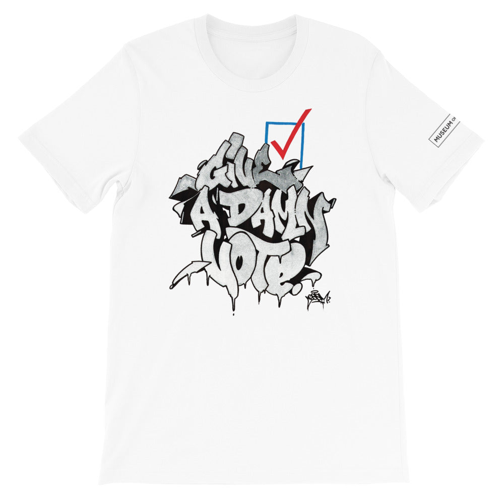 Give A Damn Vote X Ces X MoG Tee, White