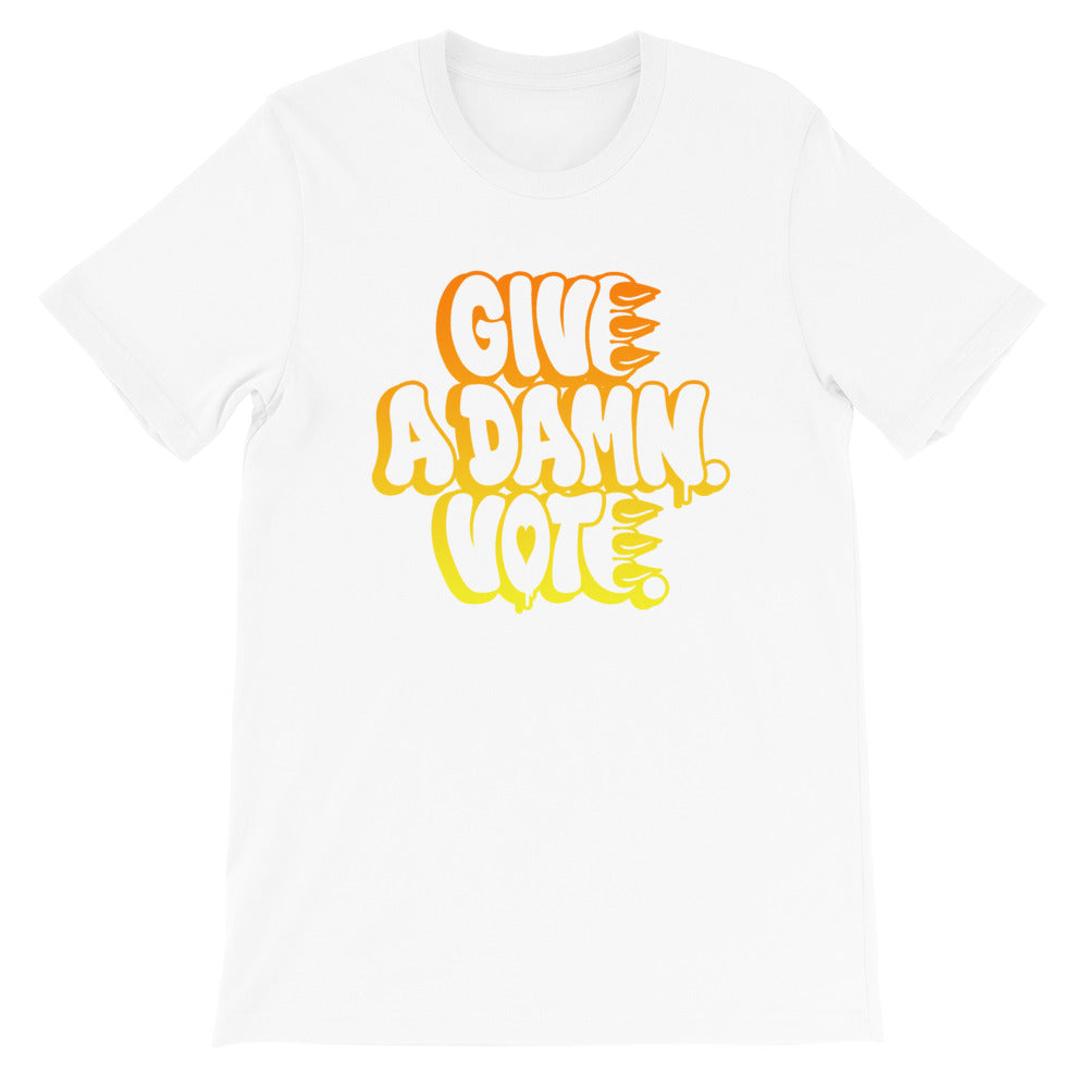 Give A Damn Vote X CLAW Tee, White