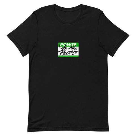 "Give A Damn Vote X Jim ""TAZ"" Evans X PTTP Tee, Green Art on Black"