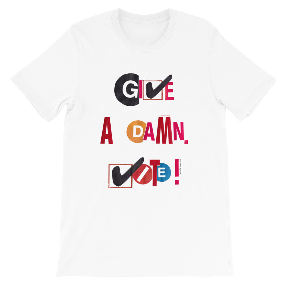 Give A Damn Vote X Al Diáz Tee, White