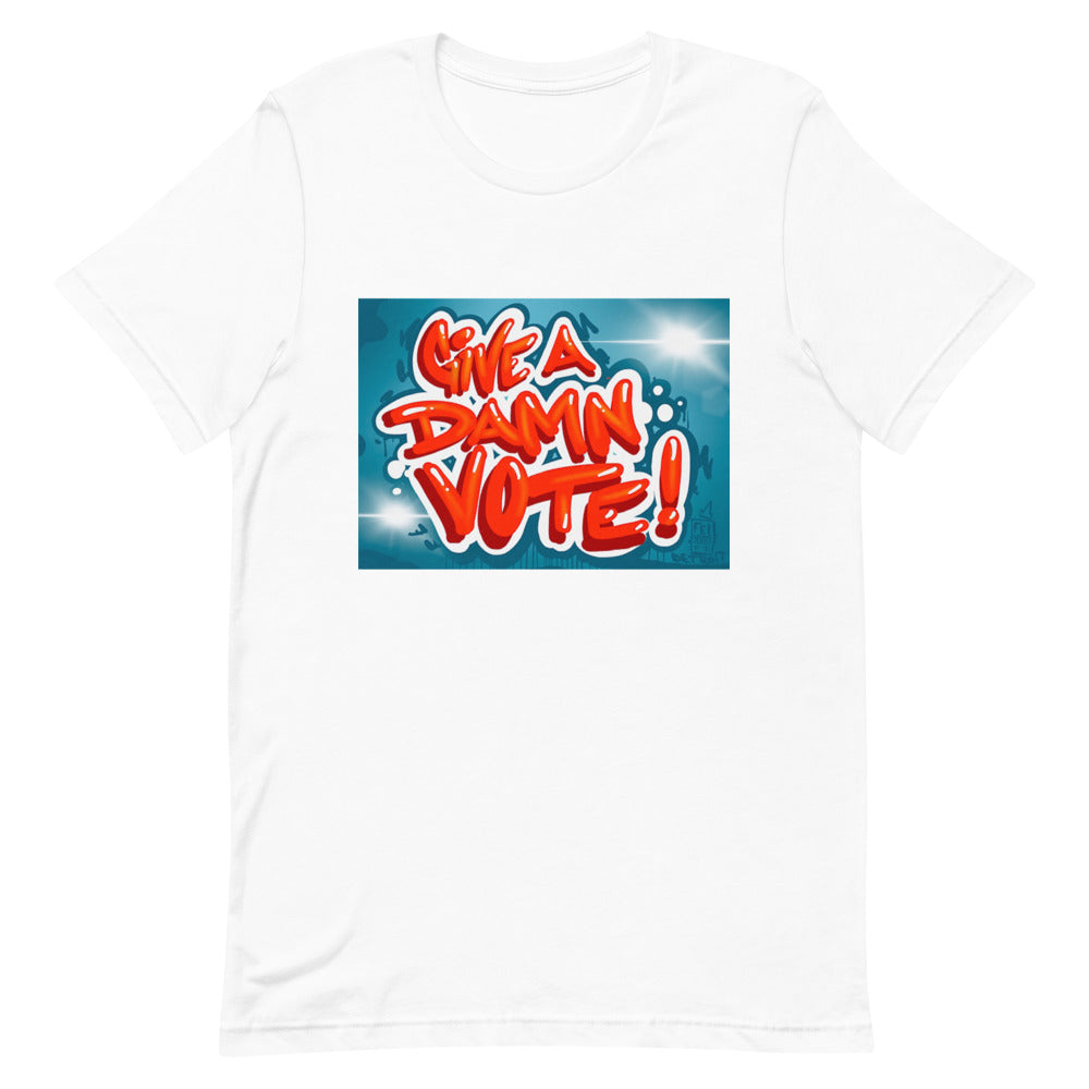 Give A Damn Vote X Fel3000ft Tee, White