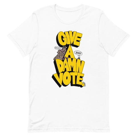 Give A Damn Vote X Freako Tee, White