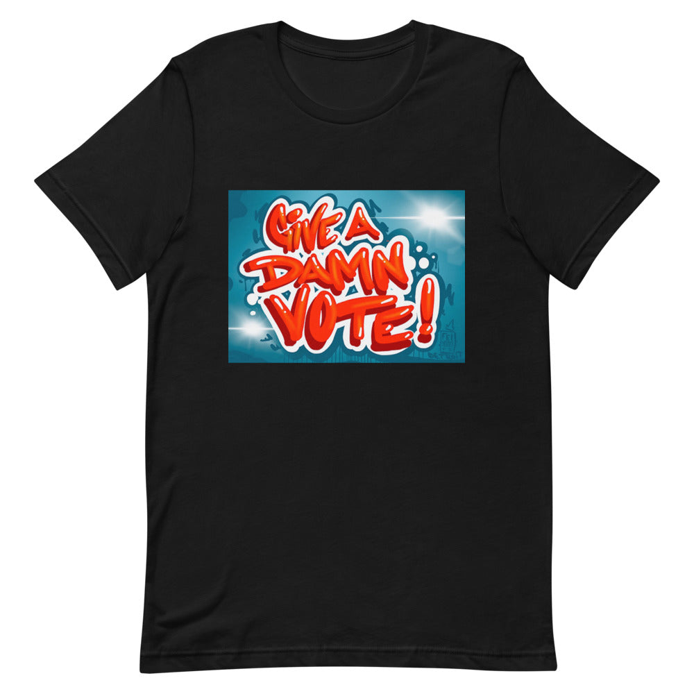 Give A Damn Vote X Fel3000ft Tee, Black