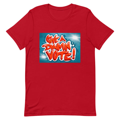 Give A Damn Vote X Fel3000ft Tee, Red