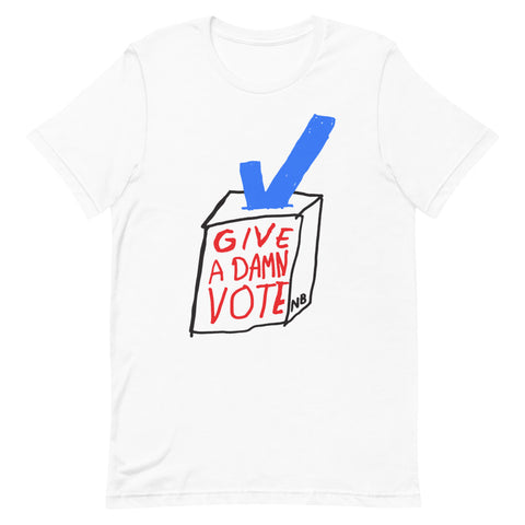 Give A Damn Vote X Nathan Bell Tee, White