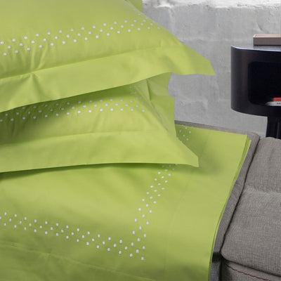 "Completo letto ""Pois"" colore Lime Green - Andrea Acciaio Tuscan Creations"