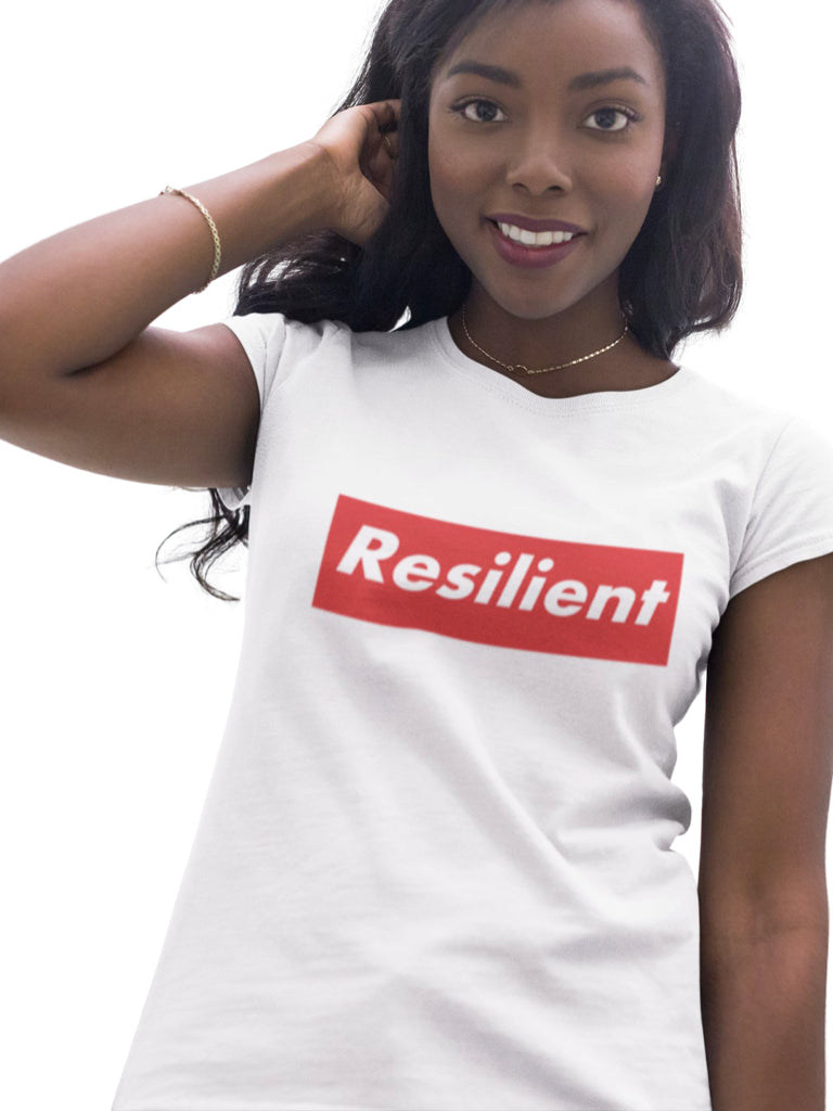 "RESILIENT ""SUPREME"" WHITE SHORT SLEEVE T-SHIRT 