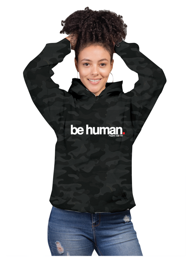 BE HUMAN - CAMO - PULLOVER HOODIE | UNISEX