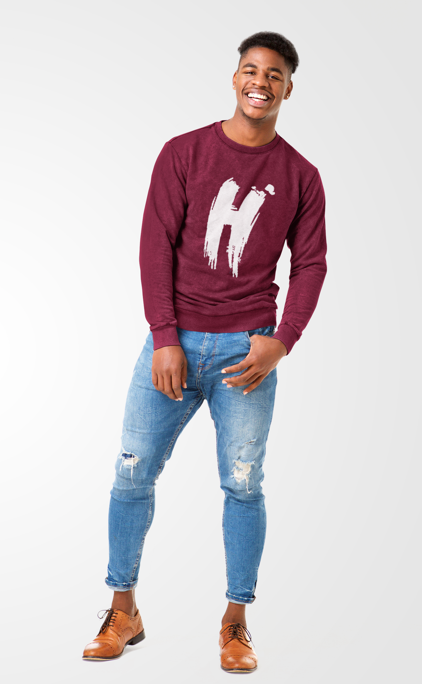 HOPE CENTER - MAROON SWEATSHIRT | UNISEX