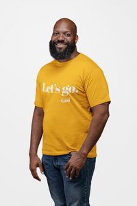 LET'S GO SHORT SLEEVE T-SHIRT GOLD- SALE