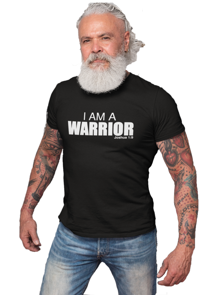I AM A WARRIOR BLACK SHORT SLEEVE T-SHIRT | UNISEX