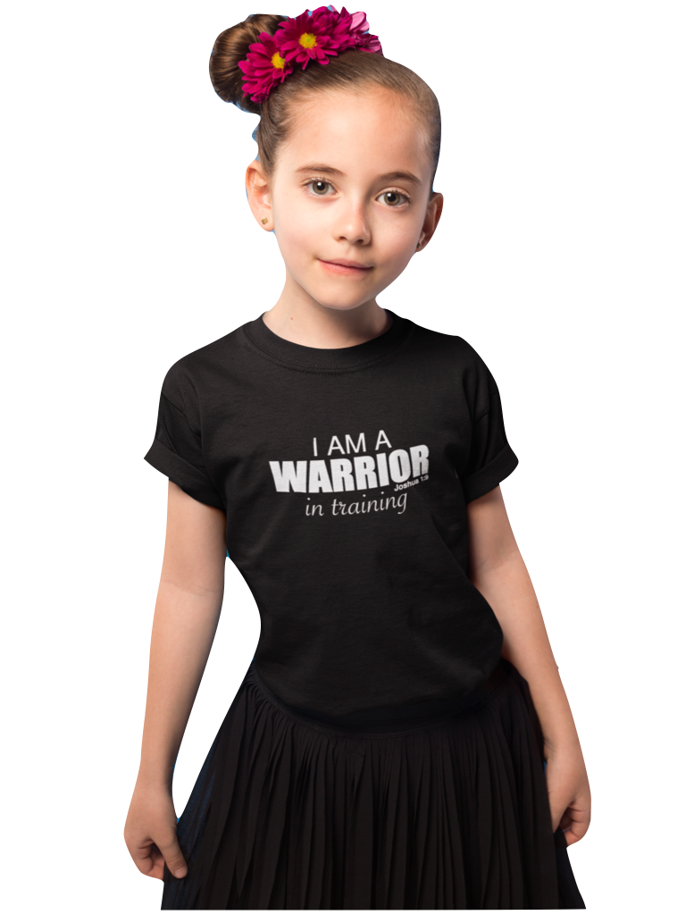 WARRIOR IN TRAINING BLACK SHORT SLEEVE T-SHIRT | YOUTH