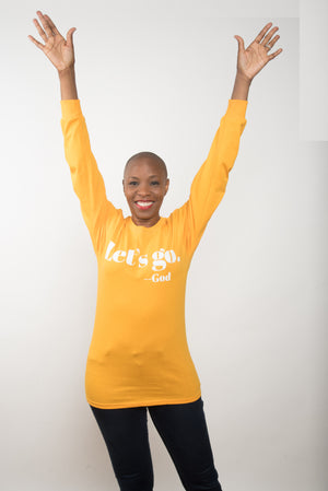 "LONG SLEEVED ""LET'S GO"" TEE 